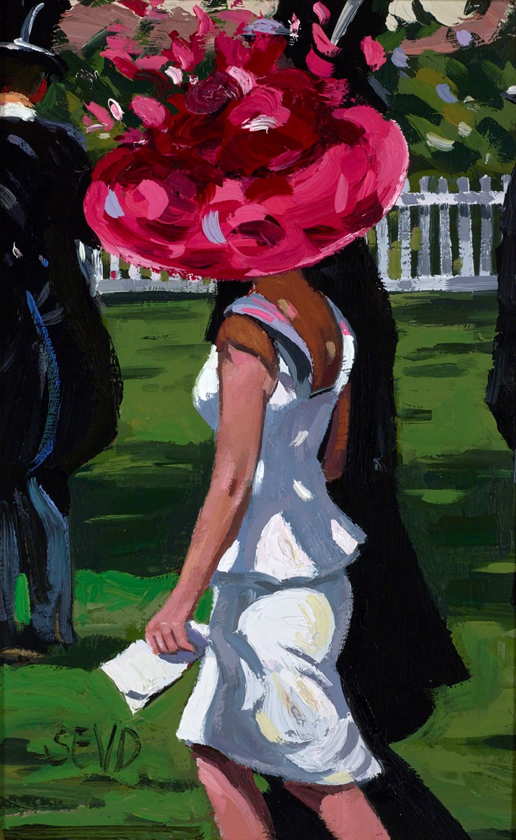Ascot Glamour by sherree valentine daines -  sized 7x11 inches. Available from Whitewall Galleries